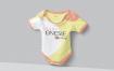 新生儿婴儿服装婴儿连体衣样机模版素材 2ELHMWD