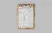 文件夹板样机A4纸剪贴板样机9PZT437