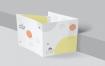精致产品产品折页4折方形传单样机模版素材CRHLV7J