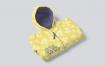 黄色青春儿童拉链帽衫服装样机PMKQXEK