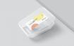 食品包装盒塑料矩形盒标签样机M833PQW