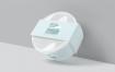 咖啡馆品牌和包装设计圆形塑料盒袖套样机YNAN7T2