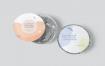 餐厅品牌和包装圆形铝箔食品容器模型样机素材下载E2Y323A