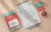 清新简约品牌VI样机模版素材下载3KELHMV