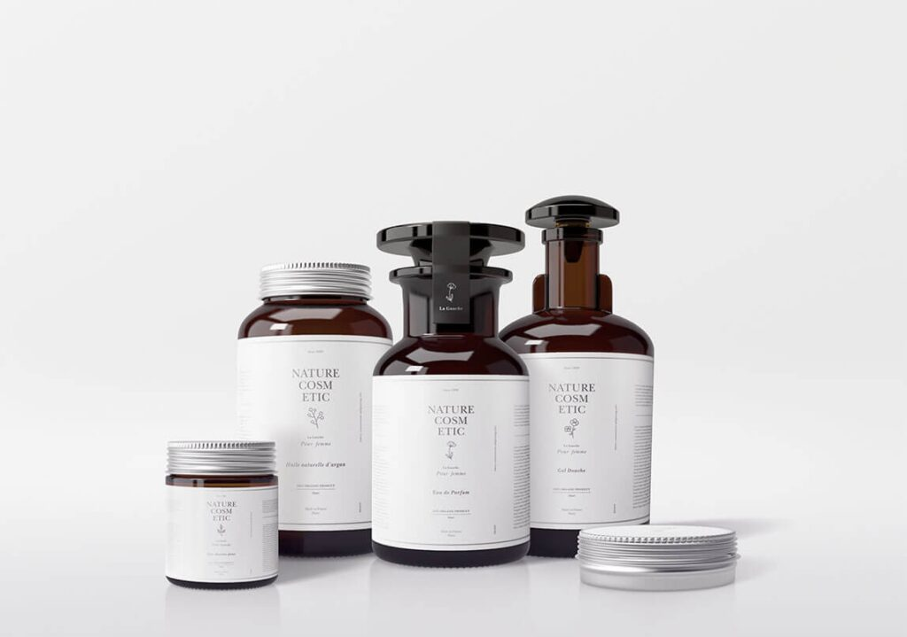 护肤品和化妆品类的瓶子打包下载[PSD]插图