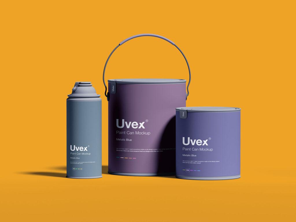 精致高端油漆包装样机Paint Packaging Mockup插图(1)