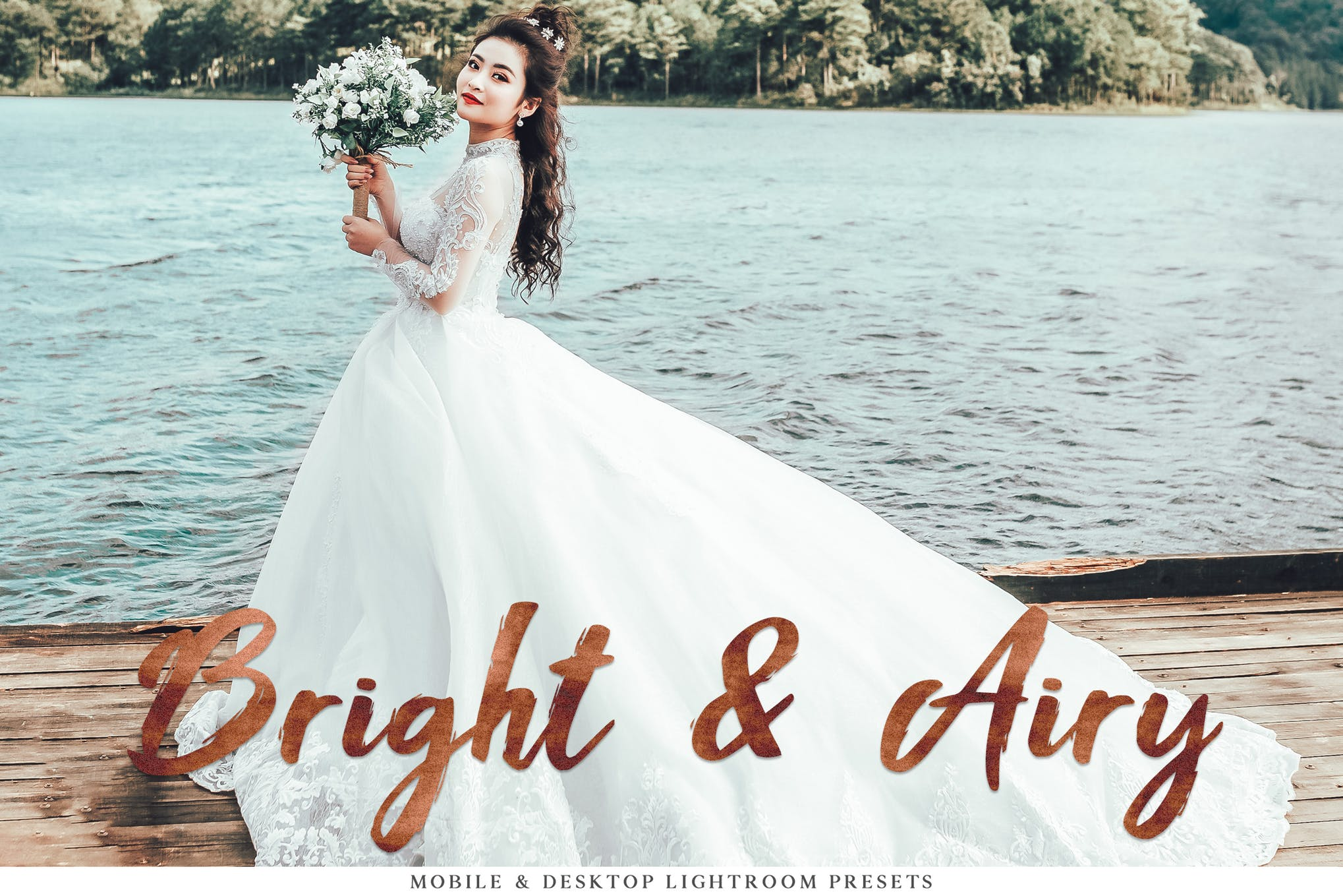 梦幻般的照片效果处理LR预设Bright Airy Mobile Desktop Lightroom Presets插图
