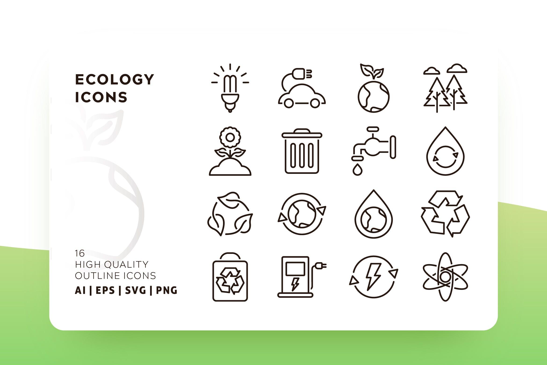 生态环境概述系列图标源文件下载  Ecology Outline 28d26c插图