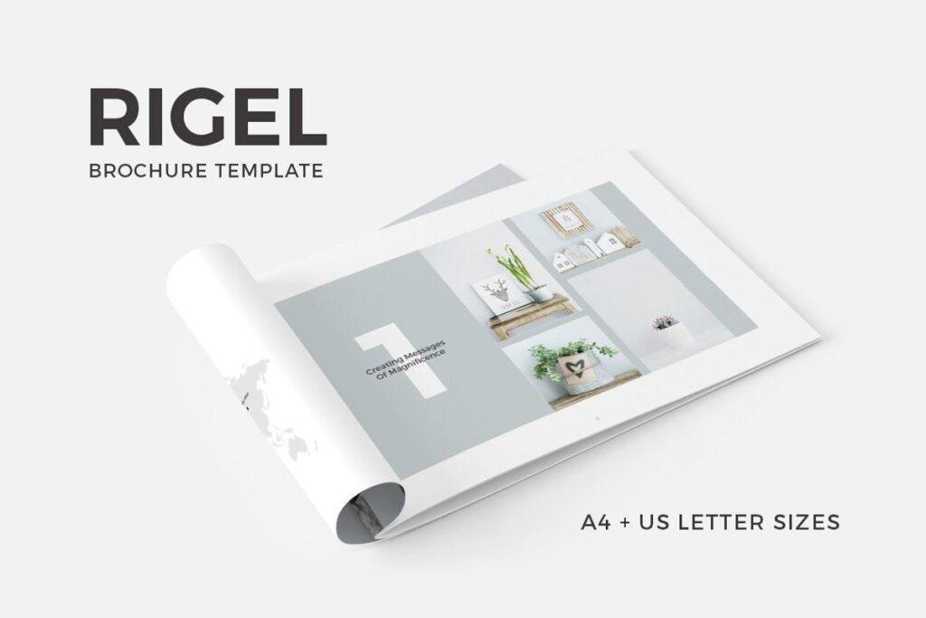 简约绿植居家生活类画册模板Rigel Brochure Template插图