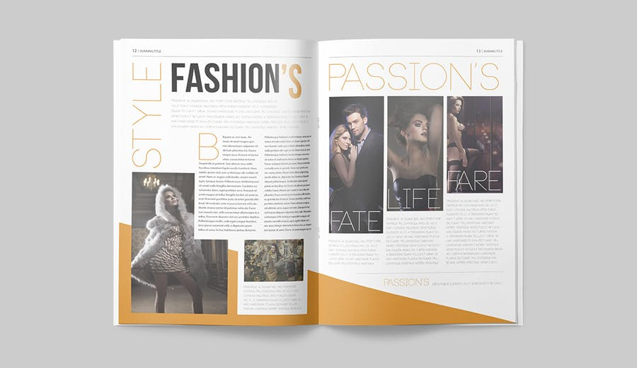写真集/采访/画廊主题杂志模板下载Magazine Template 6N4PTQJ插图(6)
