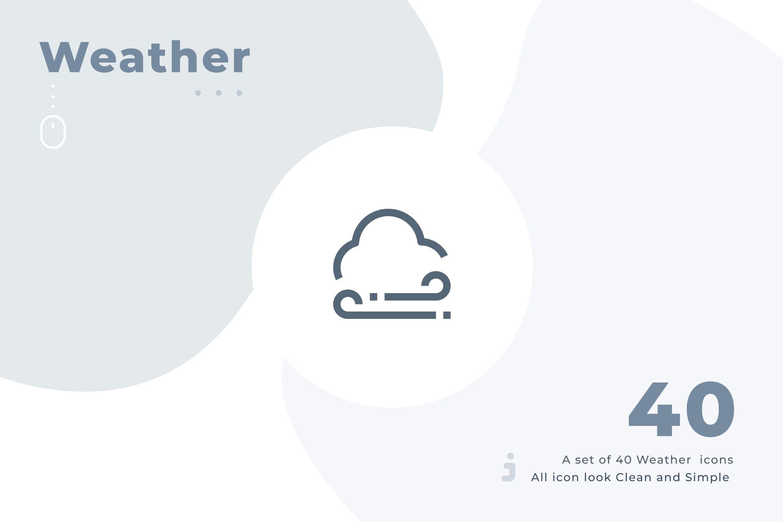 40个创意天气图标源文件下载40 Weather icon set – Material插图