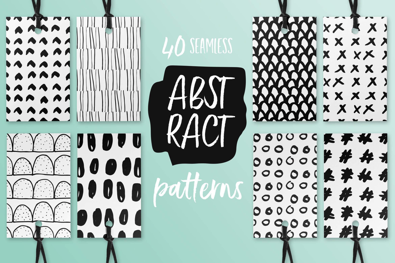品牌服装VI品牌装饰图案纹理素材装饰图案Abstract Seamless Patterns插图