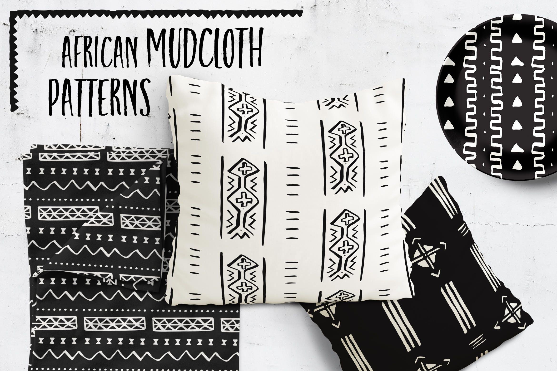 20个美丽的非洲泥布矢量图案集合装饰图案花纹插图