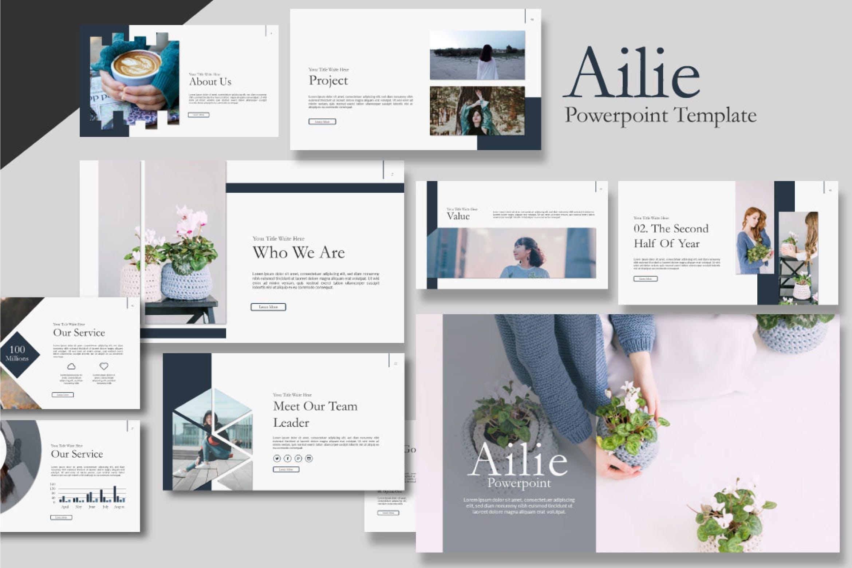 多用途演示文稿幻灯片模板Ailie Keynote Template插图