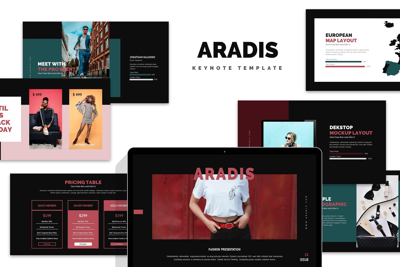 多用途优雅简洁企业主题演讲幻灯片模板下载Aradis Black Friday Keynote Template插图