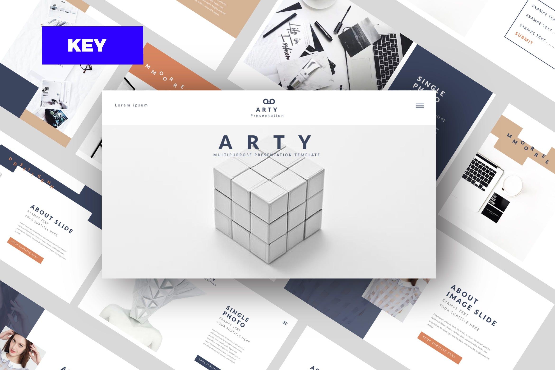创意多用途模板工业设计产品展示PPT幻灯片模板Arty Keynote插图