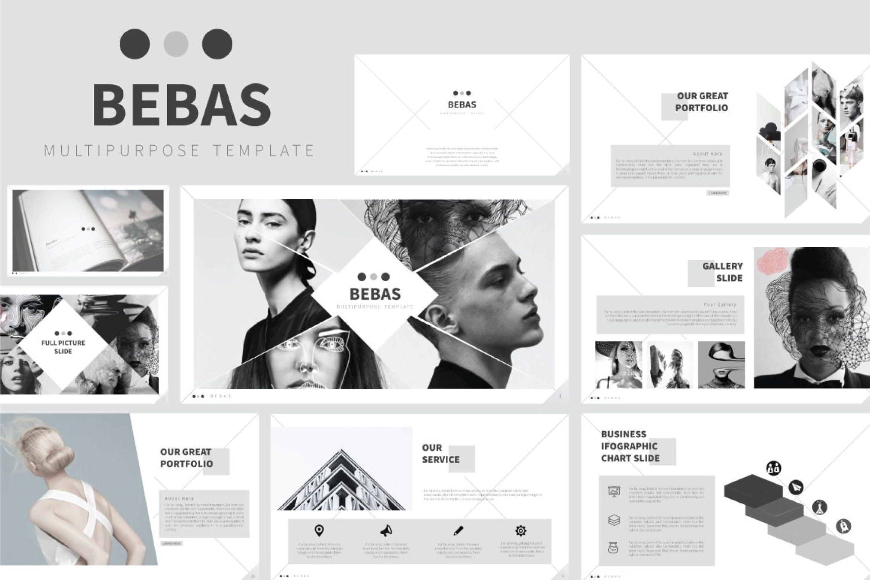 多行业多用途模板素材幻灯片模板下载BEBAS Keynote Presentation插图