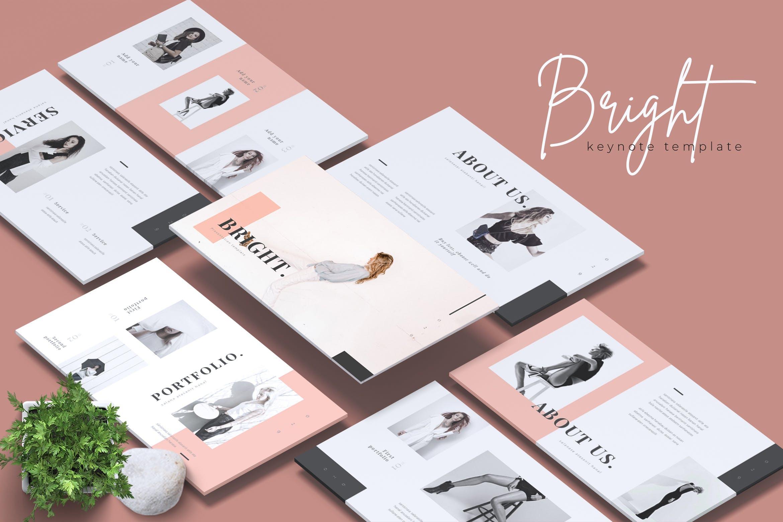 明亮的时尚品牌基调PPT幻灯片模板下载BRIGHT Fashion Keynote Template插图