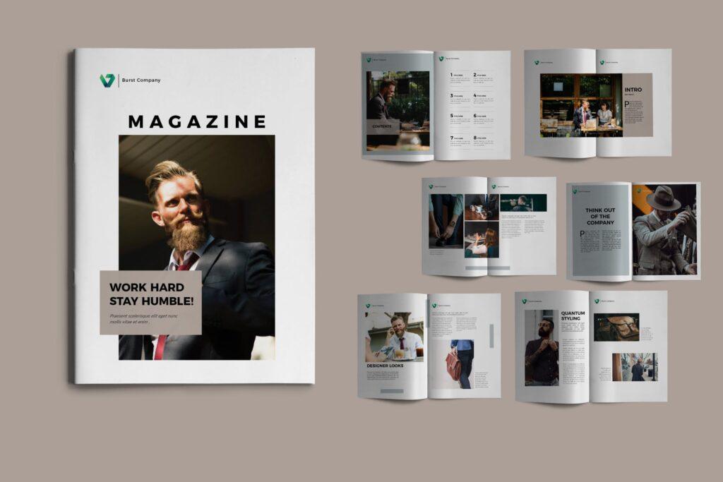 工作室产品介绍画册模板BURST Brochure Corporate插图