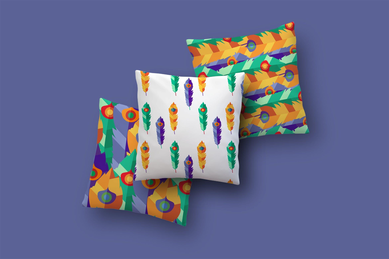 明亮的波西米亚图案插图抱枕装饰图案素材Bright Boho Patterns插图