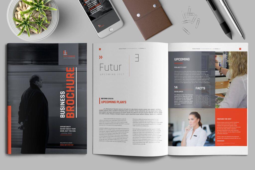 精致企业服务类/产品画册杂志模板Brochure WBYXNN插图