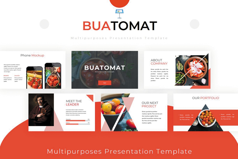 水果料理茶品幻灯片模板下载Buatomat Keynote Template插图