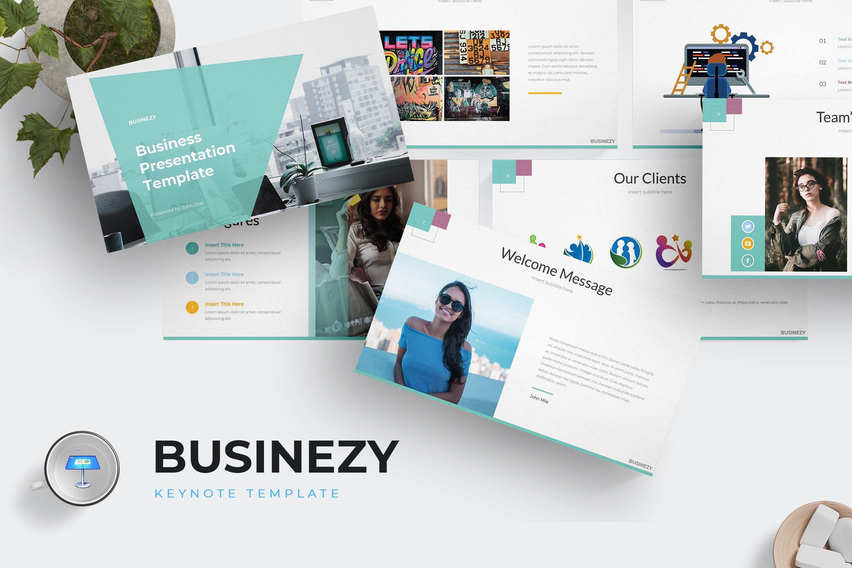 企业市场策划数据PPT幻灯片模板Businezi Keynote Template插图