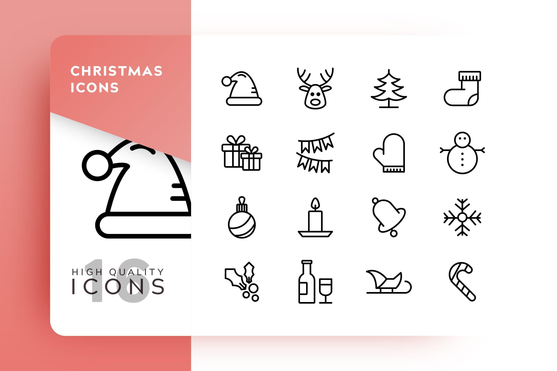 圣诞节元素创意图标源文件下载Christmas Outline Mkjcvbz插图