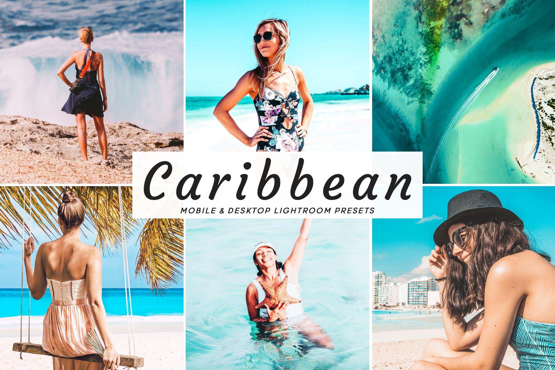 海滩冲浪系列调色照片效果处理LR预设Caribbean Mobile Desktop Lightroom Presets插图