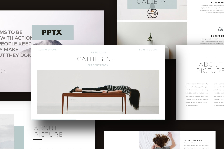优雅创意版式设计PPT幻灯片模板下载Catherine Powerpoint Template插图