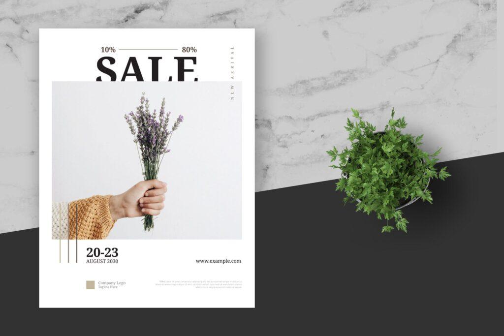 简约商业活动传单模板素材下载Clean and minimal Fashion Event Flyer Poster插图(3)