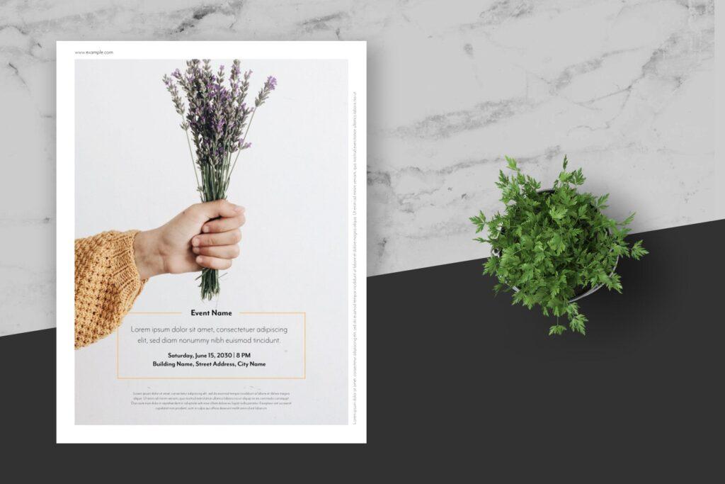 简约商业活动传单模板素材下载Clean and minimal Fashion Event Flyer Poster插图