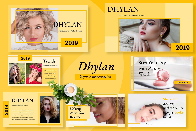 美容院市场营销策划主题幻灯片模板下载Dhylan Beauty Salon Keynote插图