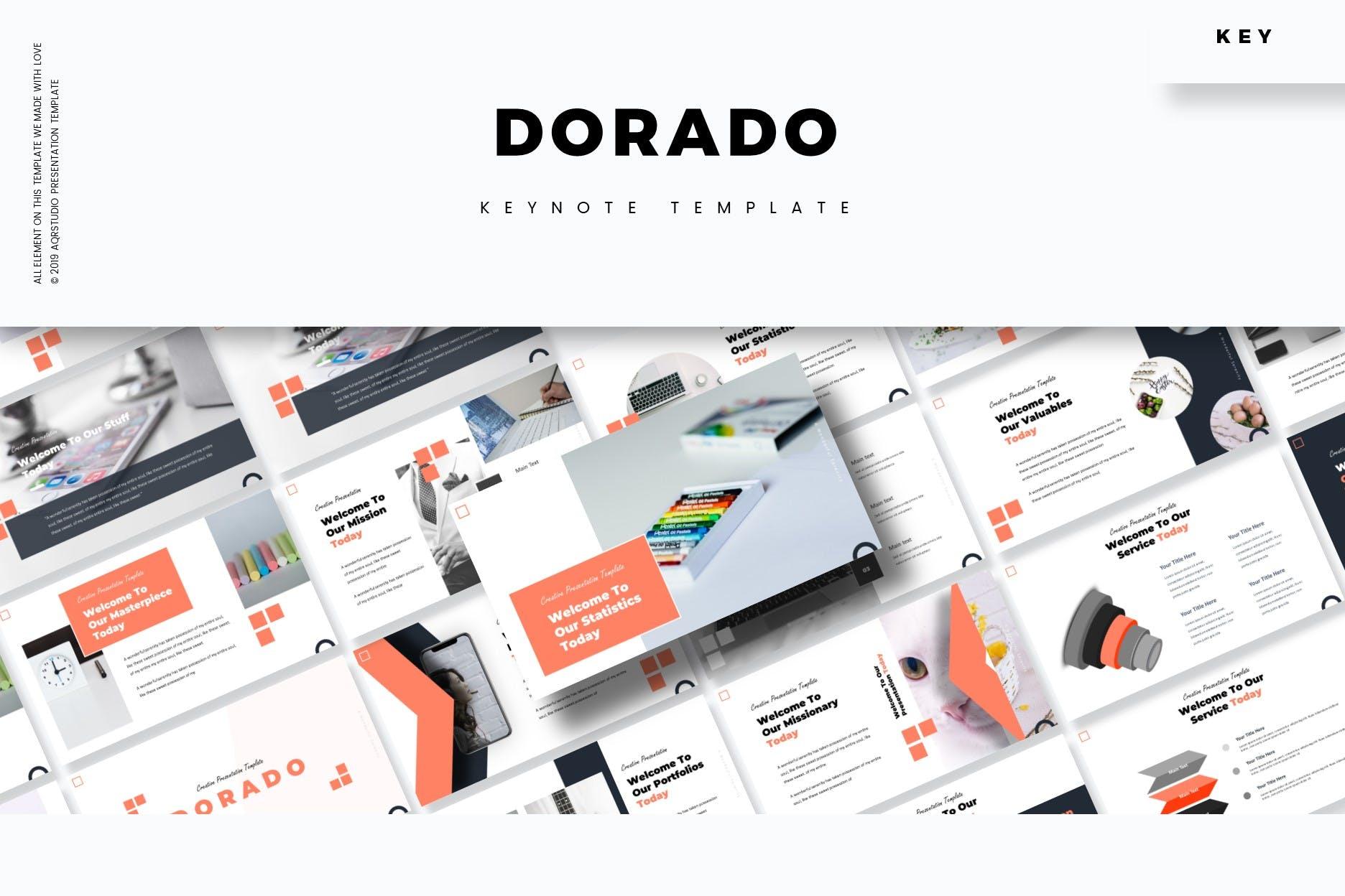 多用途的演示业务或个人需求PPT幻灯片模板Dorado Keynote Template插图