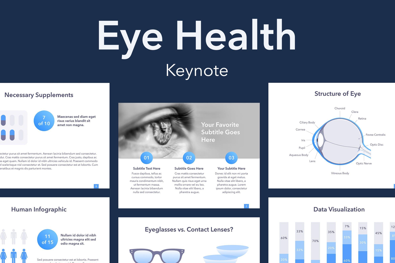 眼睛健康演讲活动PPT幻灯片模板Eye Health Keynote Template插图