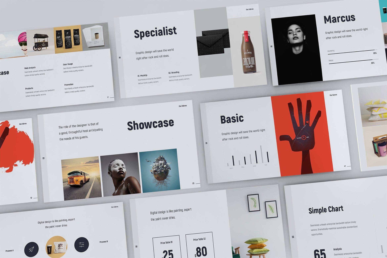 时尚潮流品牌电子商务幻灯片模板Fabros Creative Presentation Template (KEY)插图