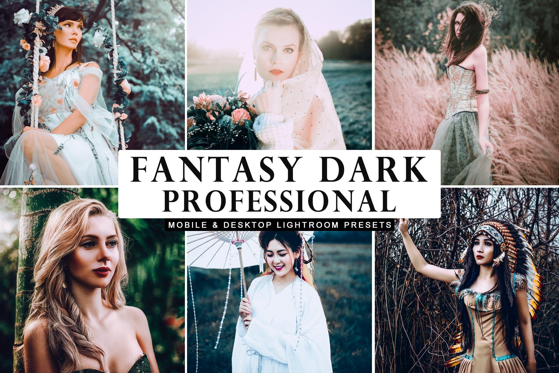 冷色创造性预设插件照片效果处理LR预设Fantasy Dark Professional Lightroom Presets插图