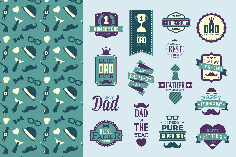 品牌辅助图形LOGO文件展示下载Fathers day Pack插图