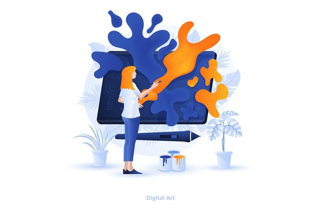 平面设计插图数字艺术创意扁平插画Flat Design Illustration Digital Art插图