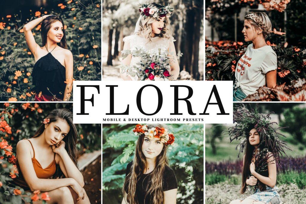 柔和淡绿色色调与少量的锐化LR调色预设Flora Mobile Desktop Lightroom Presets插图