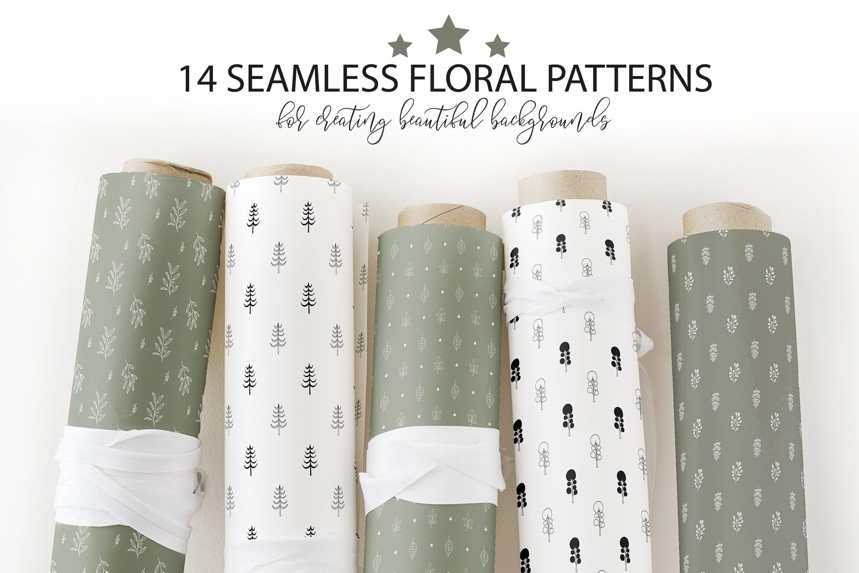 布艺创意装饰图案纹理素材下载Floral seamless patterns collection插图