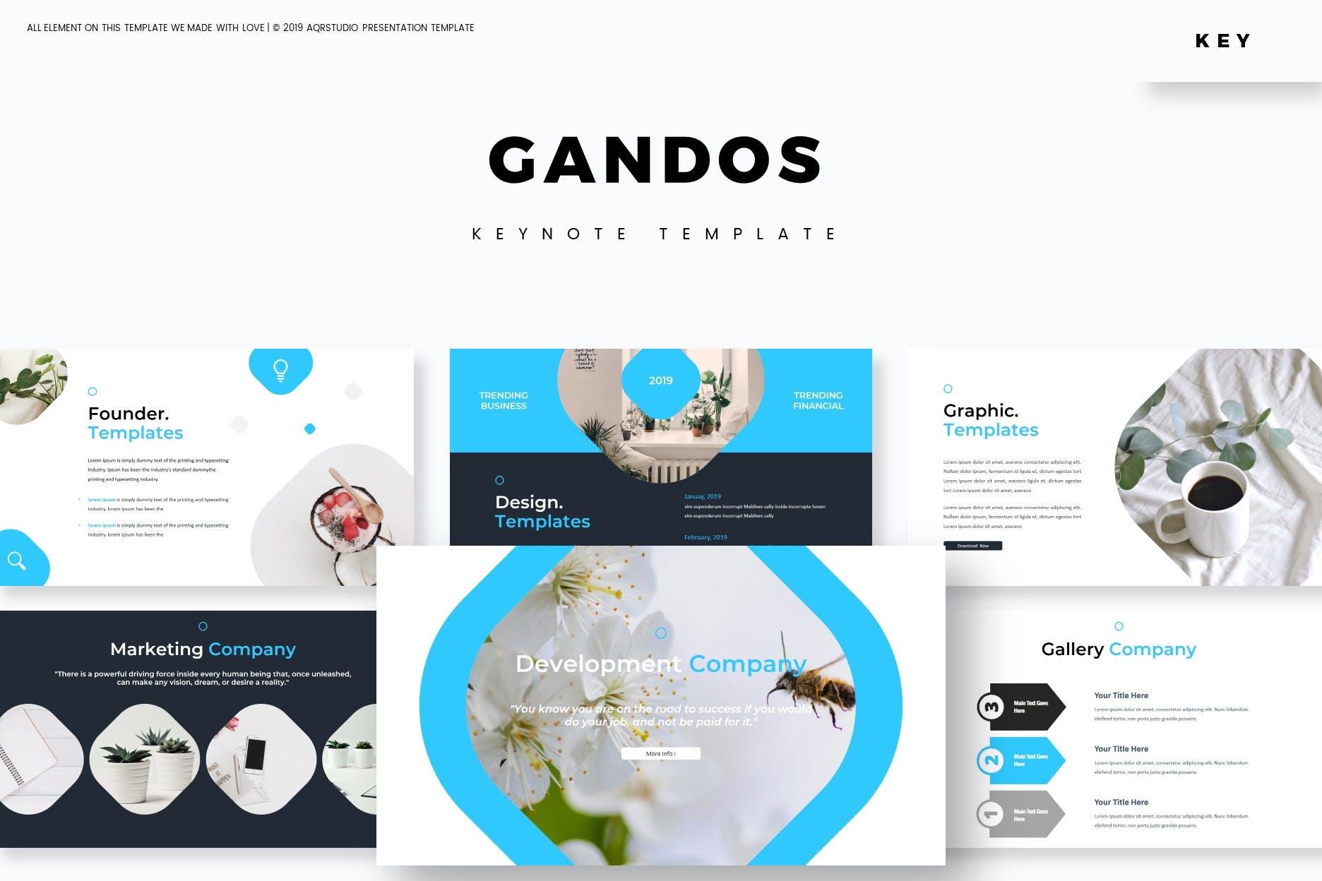 多用途行业企业策划模板PPT幻灯片模板Gandos Keynote Template插图