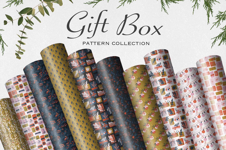 礼盒创意适量装饰图案花纹素材花纹Gift Box插图