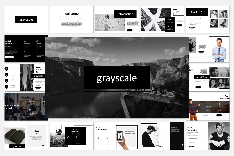 多用途企业策划投资汇报商业广告Grayscale Keynote Template插图