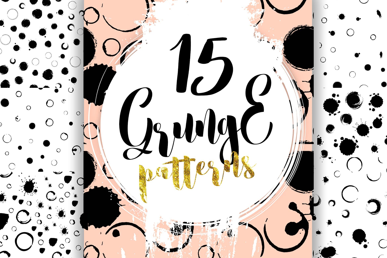 15个手工制作素描矢量插图图案花纹素材下载Grunge pattern插图