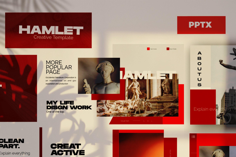 艺术雕塑主题演讲模板PPT幻灯片下载HAMLET Urban Powerpoint Design插图