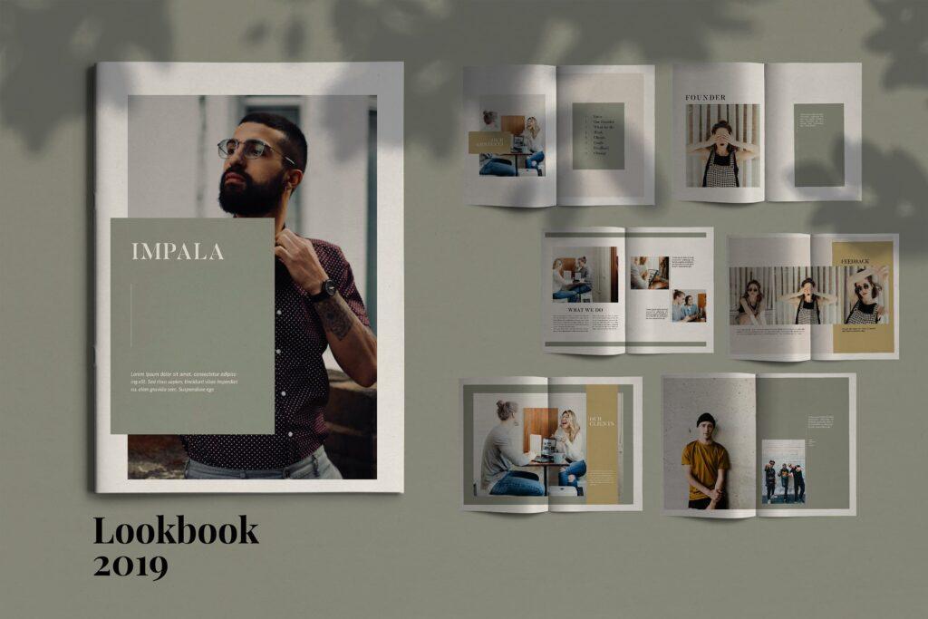 投资组合小册子模板设计师工作室内设计目录画册模板IMPALA Brochure Template插图
