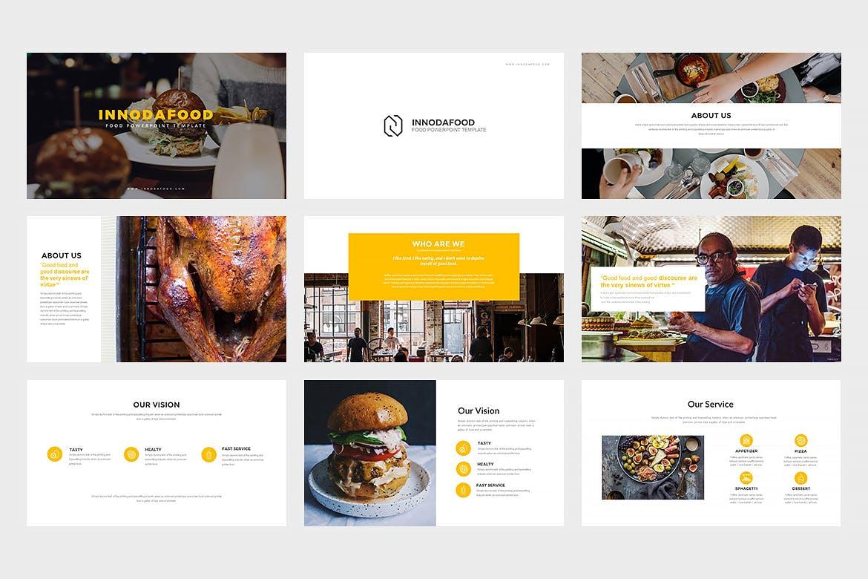 西餐美食料理主题餐厅品牌幻灯片模板Innodafood Keynote Presentation插图