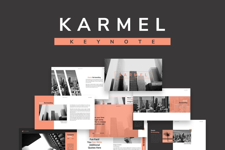 跨国企业品牌主题介绍幻灯片模板Karmel Keynote插图