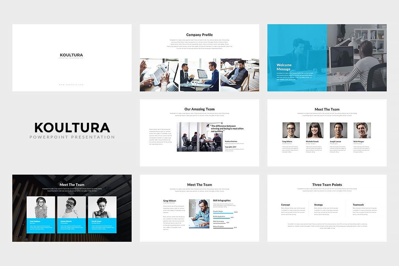企业商务演示文稿模板原文件下载Koultura Powerpoint Presentation插图